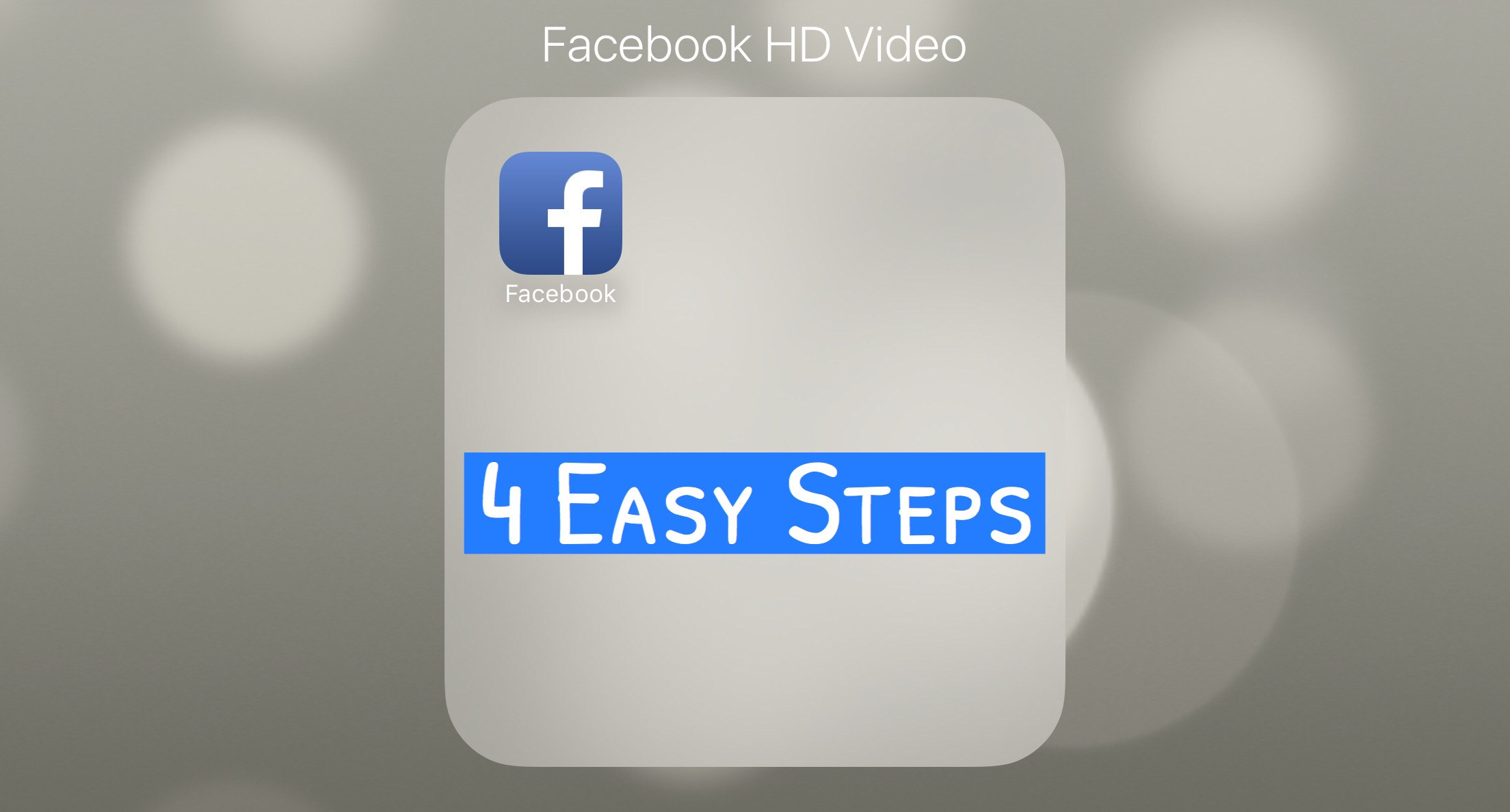 4 Easy Steps to Upload HD Videos to Facebook